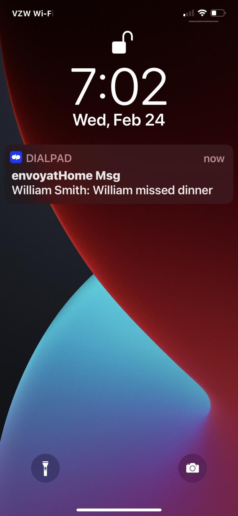Virtual Caregiving Missed Dinner