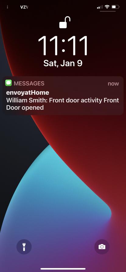 Virtual Caregiving Notfication William Smith Front Door